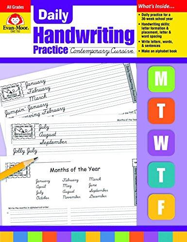 Evan moor the best amazon price in savemoney evan moor daily handwriting practice contemporary cursive fandeluxe Images