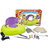 Unbekannt Töpferscheibe, elektronisch mit Ton, Farben, Pinsel und Werkzeug, für Kinder ab 8 Jahren - Set Werkstatt Atelier Kreativ Set Töpfern Modellieren