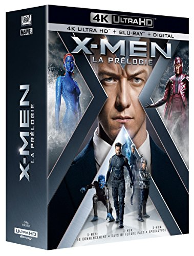 Coffret Prélogie X-men : Le Commencement ; Days Of Future Past ; Apocalypse 4k Ultra Hd [blu-ray]