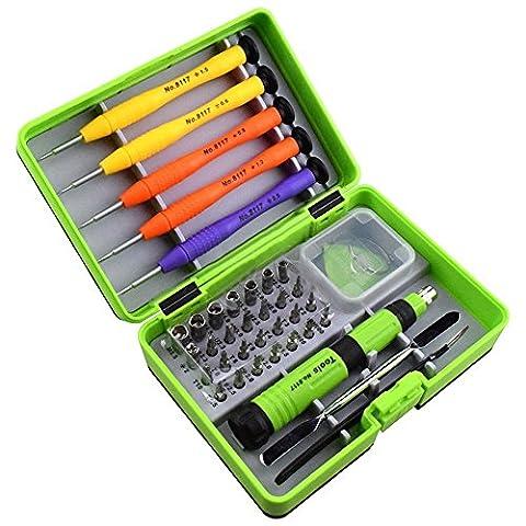 Cohk 36en 1Outil Professionnel Ensemble, professionnel téléphone portable réparation Outil Kits avec 28pcs Tête de tournevis pour iPhone/iPad/iPod/Samsung/Nokia/HTC et autres appareils
