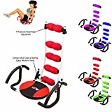 Xn8 Sports ABS Rocket Stuhl Couch Bauch Fitness Gym Trainer Übungs Crunches Maschine Home Gym Trainingsgerät, Rot