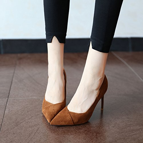 FLYRCX semplice moda europea camoscio, elegante, sexy, sottile e tacchi alti, signore di festa le scarpe A