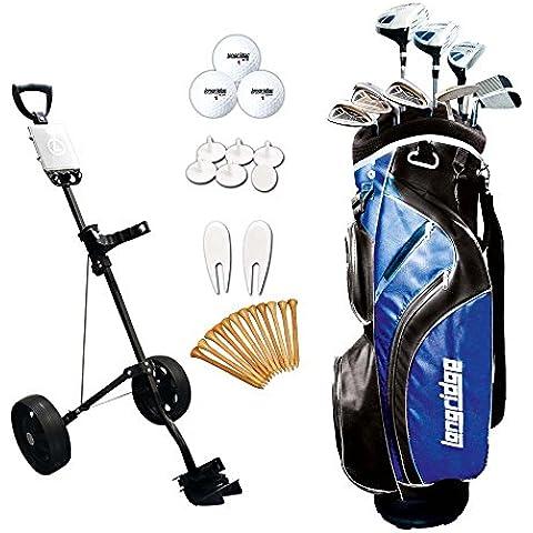 Longridge Vector Package x - Juego completo de palos de golf( trolley, híbrido, regular, para diestros ), talla 121 x 46 x 25.5