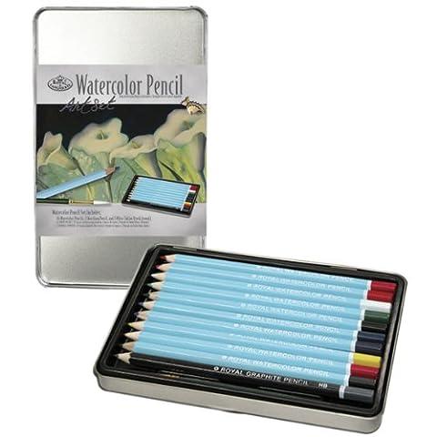 Royal & Langnickel Small Tin Watercolour Pencil Art Set