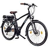 """NCM Hamburg 36V, 28 Zoll Elektrofahrrad, Herren & Damen Pedelec, E-Bike City Rad, 13Ah 468Wh Lithium-Ionen-Akku & 250W Bafang Heckmotor, mit mechanischen Scheibenbremsen (Schwarz 28"""")"""