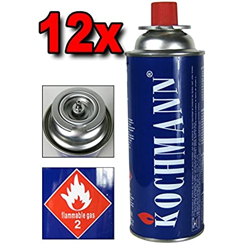12 x Cartuchos de gas MSF- 1A para Estufa De Gas Camping Cocina 227 g. Cartucho del gas del TÜV