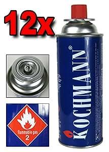 12 x Cartouches de gaz MSF- 1 A pour Gazinière Cuisinière Camping 227 g. Cartouche De Gaz TÜV