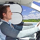 WANPOOL Auto Innen Deckengriff Sonnenblocker & Sonnenblende für Seitenfenster des Vordesitzes