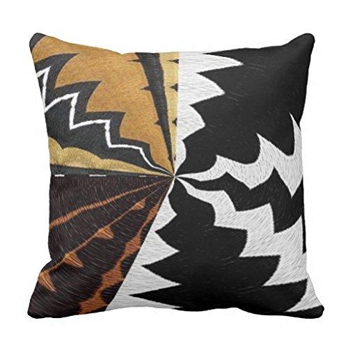 Euro Sham Dekorative Kissen (Bequeme Kissen modernes afrikanischen Graphic Dekoratives Kissen Bezüge 45x 45cm Kissen Bezug für Couch Accent Kissenbezüge 45x 45cm)