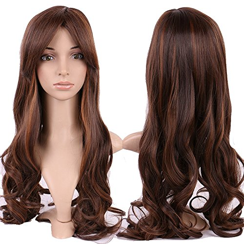 S-noilite Stylish Women Long Curly Full Head Wigs Cosplay Party Fancy Daily Dress by (Costuems Sexy Halloween)