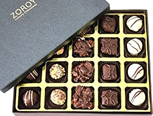 ZOROY Luxury Chocolate Signature Black Large 20 Assorted Chocolates