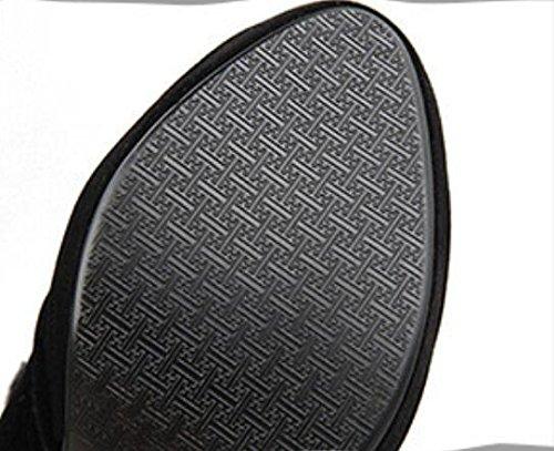 Autunno e inverno glassato in suede con tacco in metallo fastenerLace lacci scarpe che Martin stivali black