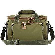 Lixada portátil multifuncional bolsa de lona bolsa bandolera para pesca aparejos de pesca señuelo de pesca