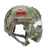 OneTigris Taktische Helm mit Maske und Schutzbrille für Softair(MC) - 3