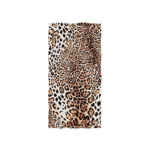 Vinlin Handtuch mit Leopardenmuster, Mikrofaser, hohe Saugfähigkeit (Leopard Handtücher)