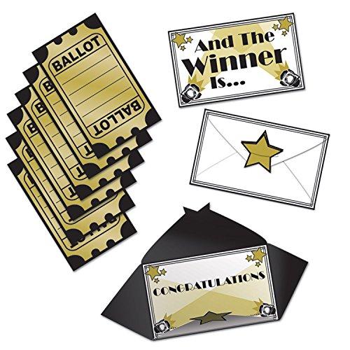 Voting-box (Beistle Auszeichnungen Nacht Stadt?, 3von 12,7cm, Schwarz/Gold/Weiß)