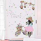 Wandaufkleber Tapete Malerei Mädchen Schlafzimmer Kinderzimmer Wanddekoration Innentapete Selbstklebende Wandmalerei