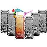 Tiki Cóctel vasos tazas de bebidas a tema hawaiano para fiesta/Bar, Summer Punch Six Glasses gris