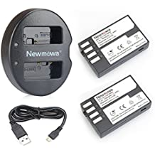 Newmowa D-LI109 Batteria (confezione da 2) e Doppio Caricatore USB per Pentax D-LI109 e Pentax K-r, K-30, K-50, K-500