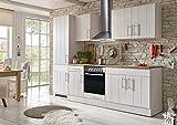 respekta Küche Küchenzeile Küchenblock Landhausküche Einbauküche Komplettküche 270 cm weiß