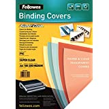 Fellowes  5376102 -  Pack de 100 PVC A4 200 Microns Couvertures de reliure - Transparent