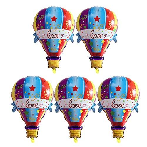 5pcs Heißluftballon Luftballon Tierballon Heliumballon Baby Taufe Kinder Geburtstag Party Deko