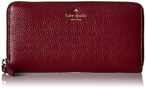Kate Spade New York Cobble Hill Lacey Wallet Handbags Merlot PWRU4938-632