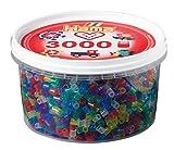 Hama 210-54 - Bügelperlen, ca. 3000 Perlen in der Dose, Glittermix hergestellt von Hama