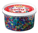 Hama 210-54 - Bügelperlen, ca. 3000 Perlen in der Dose, Glittermix