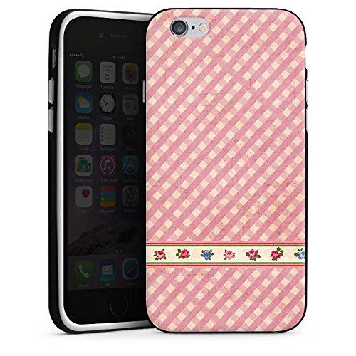 Apple iPhone X Silikon Hülle Case Schutzhülle Karo Mädchen Oktoberfest Silikon Case schwarz / weiß