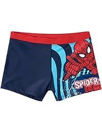 Boxer de bain enfant garçon Spider-man Marine/rouge de 4 à 10ans