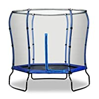 Rebo 7FT Safe Jump Trampoline With HALO Safety Enclosure - 2 Colours (Blue)