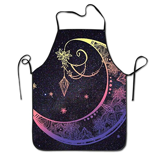 ketball Art Polyester Apron for Baking Crafting Gardening Cooking Durable Easy Cleaning Creative Bib for Man and Woman Standar Size ()