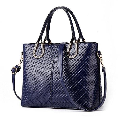 Myleas Damen PU Leder Rucksack Top Griff Handtasche Schultertasche Hobo Tasche für Frauen Blau