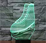 Led Night Light The Skating Shoes With 7 Colors Light For Home Decoration...