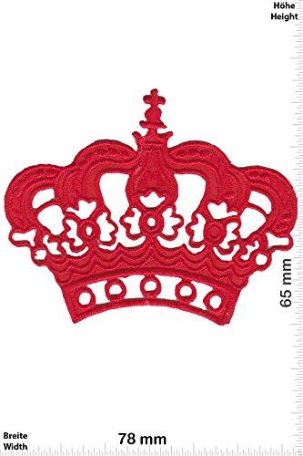 Patch - King - Krone - red - Fun Patch - Adult - Weste - Patches - Aufnäher Embleme Bügelbild Aufbügler