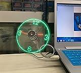LED USB Fan Uhr Mini Flexible Time Display Schwanenhals USB Ventilator USB Uhr mit LED Licht Cool Gadget für PC Notebook Laptop von Demarkt