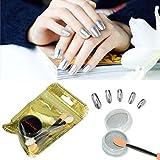 LCLrute Sexy Neue Qualität Frauen-Spiegel-Puder-Effekt-Chrom-Nagel-Pigment-Gel-Polnisch DIY (Silber)