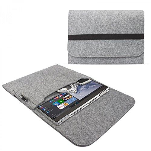 eFabrik Sleeve für Lenovo Yoga 710 Schutzhülle 14 Zoll (auch für Lenovo Yoga 720 13,3 Zoll geeignet) Ultrabook Notebook Tasche Case Soft Cover Schutztasche Sleeve Filz, Farbe:Grau
