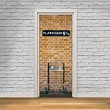 Wallflexi Puerta Mural Kings Cross Platform 9,75 Arte de Pared...