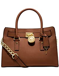 Michael KorsHamilton Saffiano Leather Medium Satchel - Bolsa de Asa  Superior Mujer 90b91a92fa5