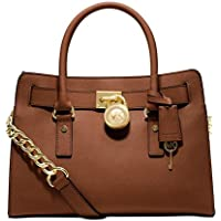 Michael Kors - Hamilton Saffiano Leather Medium Satchel, Borsa a
