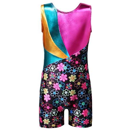 Einteilige Mädchen Kinder Ballett Trikots Sleeveless Dance Gymnastic Dancesuit Biketard Kostüm (Biketard Kostüm)