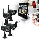 Kit vidéosurveillance 4 caméras sans fil Thomson