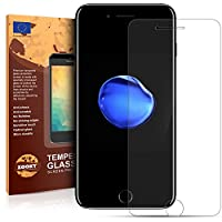 Di alta qualità 4-strati Pellicola iPhone 7 Vetro temperato, che fornisce 96,9% transmision luce garantendo una perfetta qualità delle immagini a confronto con schermi di protezione standart.  Vetro temperato è molto più facile da attaccare s...