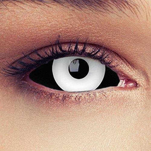 Sclera lenti a contatto colorate nere bianche pauroso 22 millimetri in nero e bianco occhio pieno senza diottrie + gratis caso di lenti modello