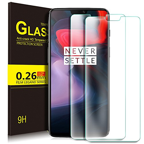 Oneplus 6 Film, KuGi Protective Film Protective Film [Anti-Reflection & Anti-Bubble] [9H Hardness] for Oneplus 6 (2 Pieces)