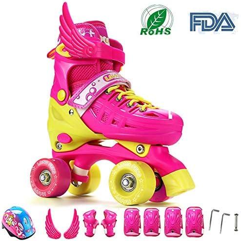 best website 14125 f8768 Pattini da da da skate roller in Parallel 4 ruote Pattini da pattinaggio in  quad per bambini Adolescenti e adulti Taglia regolabile ABEC-7 Ruote PU per  ...