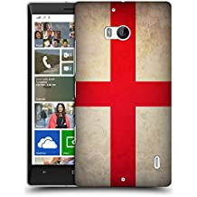 Head Case Designs St. George Inghilterra Bandiere Vintage Cover Retro Rigida per Nokia Lumia Icon / 929 / 930