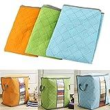 Best Deals - Bamboo Charcoal Clothes Home Blanket Quilt Folding Storage Box Closet Organizer-Horizontal,1Pc Single Compartment Random Color.